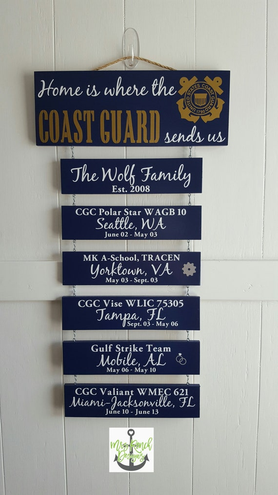 on sale home is where the coast guard sends us by