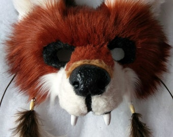 SOLD Spirit/Totem Animal Mask (FOX) (AVAILABLE made to order,please see below for details)