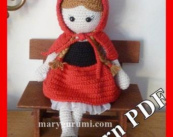 "Crochet Pattern, pattern, tutorial, Amigurumi doll, Bénédicte ""Chaperone"""