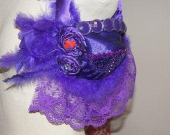 Red Hat Society Purple Bra Purse