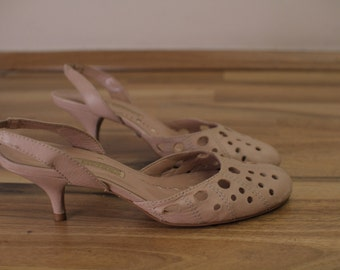Buffalo Baby Pink Slingbacks Pumps Eu37  UK4  US6 1/2