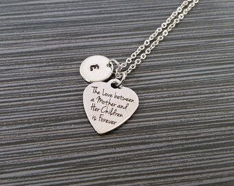 Mother Daughter Necklace - Mothers Day Necklace - Personalized Necklace - Custom Initial Necklace - Mother Daughter Gift - Mother Son Gift