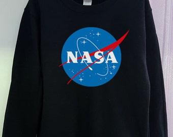 Nasa Sweatshirt Shirt Logo Gildan 2 Colors Clothing Gray Black Grey