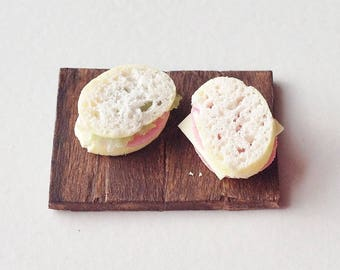 1:12 Scale Miniature Sandwiches | Dollhouse Miniature Food (unfixed to board)
