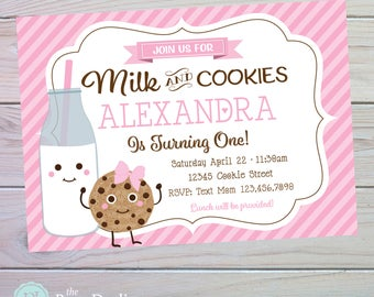 Milk And Cookies Birthday | Cookies and Milk Party | Cookie Party | Birthday Party | Printable Party Invitation | The Party Darling