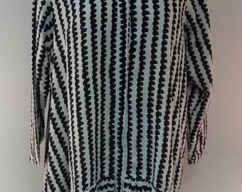 Lightweight Drop-waist Black & White Dress - SP16-5615