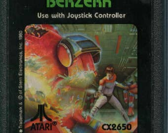 Atari 2600 Berzerk Game Cartridge