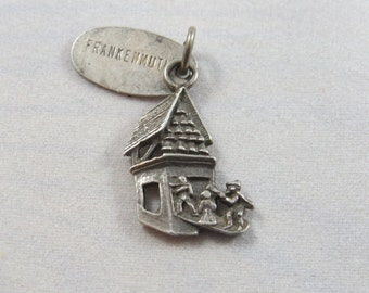 Frankenmuth Michigan with Tag Attached Sterling Silver Charm of Pendant.
