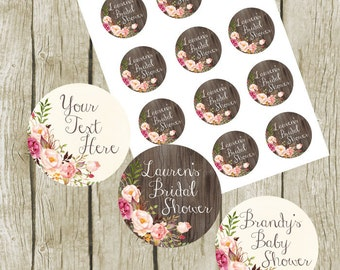Custom Tags Printable. Custom Bridal Shower Tags. Personalized Bridal Shower Tags. Baby Shower Favor Tags. Custom Shower Favor Tags.