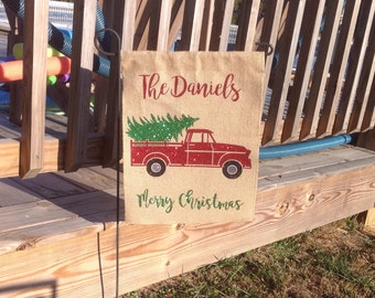 Custom Christmas Garden Flag