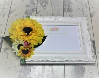 Sunflower Baby Headband, Baby Girl Headband, Newborn Headband, Flower Girl Sunflower Headband, Sunflower Photo Prop, Infant Headband