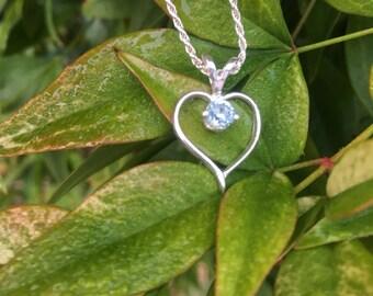 Montana Sapphire Heart Necklace