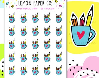 M029 Pencil Cups // Planner Stickers