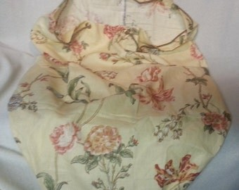 Yellow Floral Laundry Bag