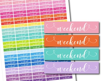 Weekend planner stickers, Hand drawn stickers, Weekend word stickers, Text stickers, Planning stickers, Planner accessories, STI-1070