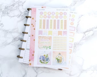 Pastel Succulents MINI Planner Sticker Kit - For Mini Happy Planners, Personal Inserts, TNs