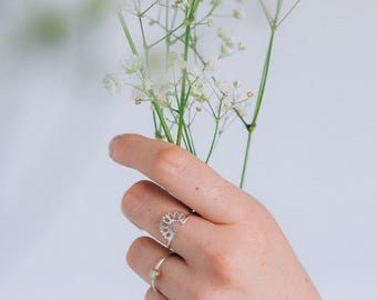 Tiny Acanth Ring - Sterling silver ring