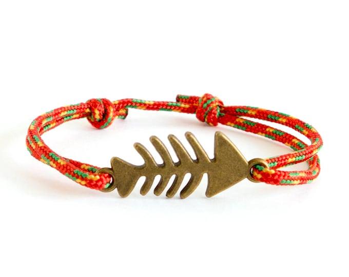 Beach Bracelet Men, Beach Jewelry, Beach Bracelets String and Fish