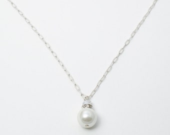 Pearl charm necklace MJ0104