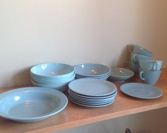 Melmac Turquoise, blue-green, vintage dishes really