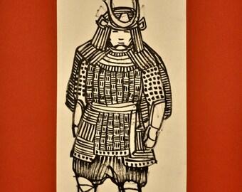 Samurai - Sumi-e Painting