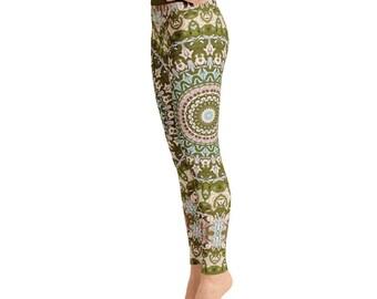 Ladies Yoga Leggings. Yoga Pants. Yoga Print Leggings Tights. Printed Leggings. Fashion Leggings. Womens Stretch Pants