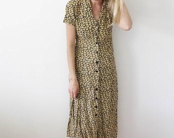 Vintage Sunflower Dress