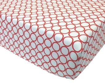 reg. price 26.00 Orange Circles Crib Sheet