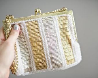 Vintage Gold Beaded Purse | Regale
