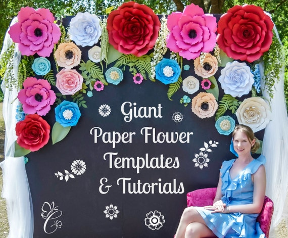 Paper Flower Backdrop Giant Paper Rose Templates Amp Tutorials
