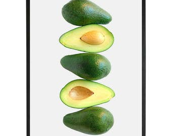 Food Photography, Kitchen printable Art, Food Art print,Halved avocado print,food print,Instant Download,Digital Photo