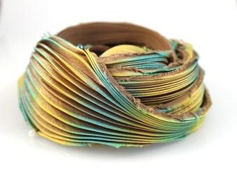 30 cm Silk Shibori Ribbon Handmade #90