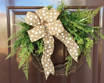 Everyday wreath,greenery wreath,winter wreath,grapevine wreath