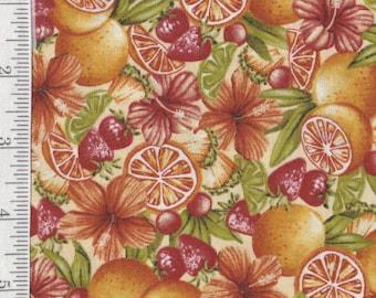 Paradise Delights- Per Yard - Quilting Treasures - Fruit