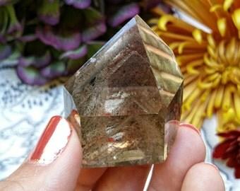 Smoky Lodolite Quartz with Phantoms, Garden Quartz, Smoky Quartz, Scenic Quartz, Metaphysical Crystal