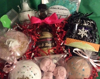 gift basket - bath bomb gift set - spa gift basket - Spa gift