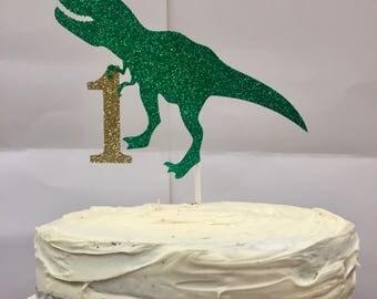 Dinosaur Cake Decorations Toppers : Dinosaur cake topper Etsy