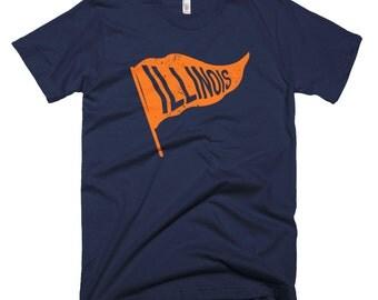 Illinois State Flag Vintage T-Shirt