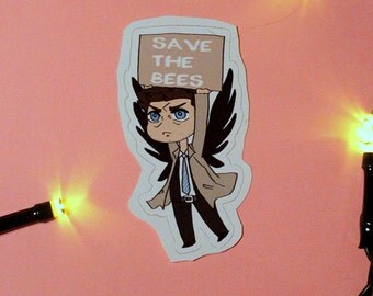 Supernatural sticker: SAVE THE BEES
