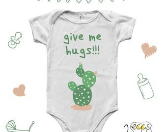 Cactus baby clothes, Baby Shower Gift, Hipster Baby Clothes, Newborn girl gift, infant girl outfits, cute baby outfits, Summer baby clothes