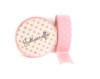 Pink & White Polka Dot Washi Tape