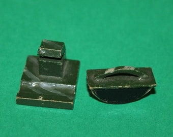 Vintage Dolls House Ink Well And Blotter 1920's