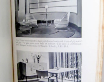 Vintage Book On Furniture English Interior Design Retro