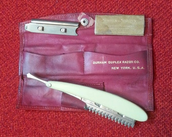 Antique Straight Razor Durham Duplex Razor Co. Durham Domino Pat. May 28 07