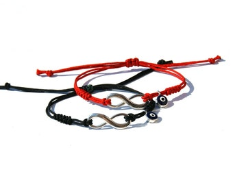 Couples Infinity bracelets- Matching Couple Bracelets-Matching couple infinity-Couples evil eye-His hers bracelet-Friendship bracelet