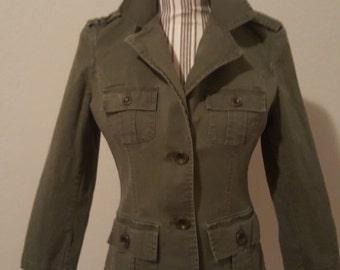 Green Vintage Military Jacket