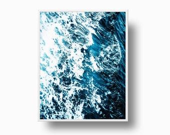 Ocean Print - Waves Wall Art, Digital download, Beach decor, Blue Room decor, Sea Photo, Sea Waves Print, Surfer gift, Coastal Life