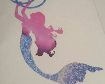 Mermaid Hooper, Hula Hoop, Hula Hoop Decal, Hooping Sticker