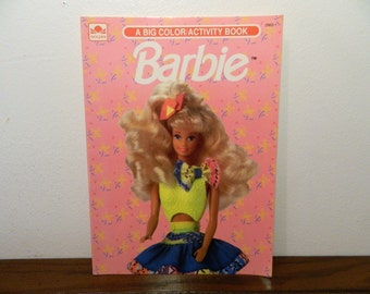 1992 Mattel Barbie Coloring And Activity Book