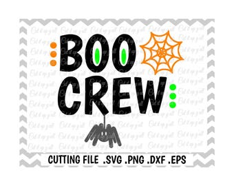 Boo Svg, Boo Crew Cutting File, Halloween, Spider Web, Spider, Trick or Treat, Cut Files for Cricut, Silhouette Cameo, Instant Download.